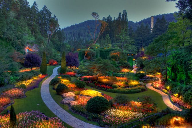 Сады Бутчартов — The Butchart Gardens (Канада)