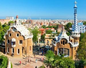 Пряничные домики Парк Гуэля в Барселоне (Испания)
